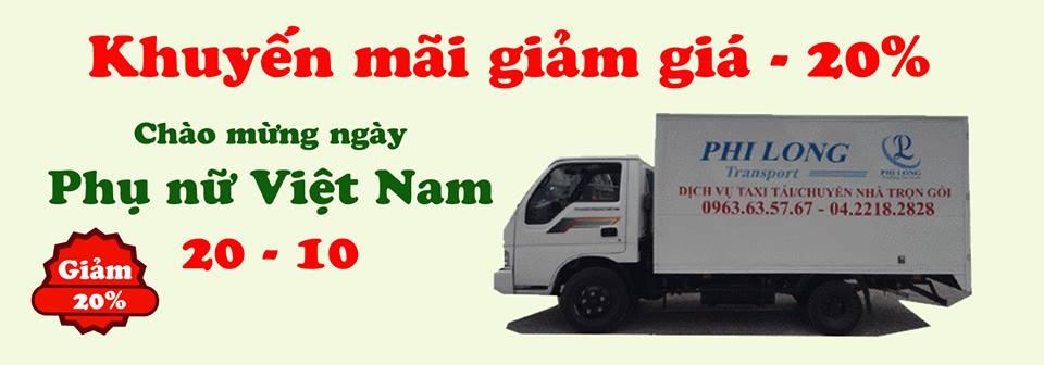 Dịch vụ cho thuê xe tải Phi Long tại phố Vương Thừa Vũ