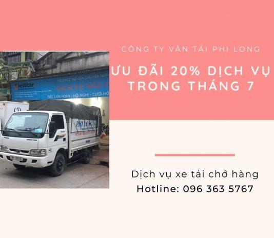 Dịch vụ chở hàng thuê Phi Long tại xã Lê Lợi