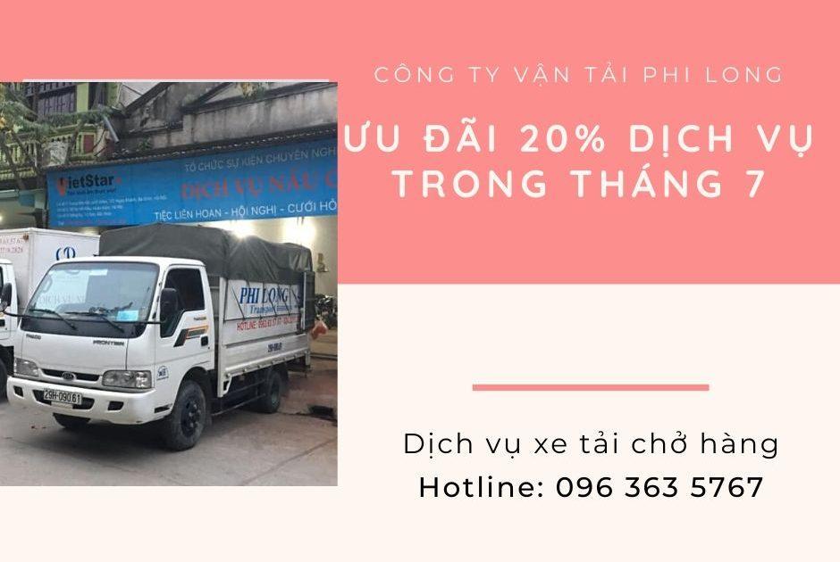 Dịch vụ chở hàng thuê Phi Long tại xã Vân Tảo
