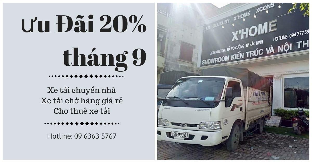 Dịch vụ cho thuê xe tải tại xã Quang Trung